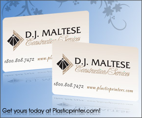 Plastic Business Card Sample 13