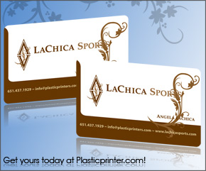 Plastic Business Card Sample 1