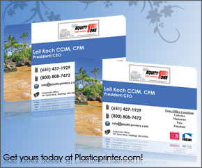 Plastic Business Card Sample 3
