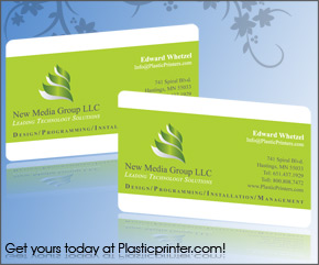 Plastic Business Card Sample 5
