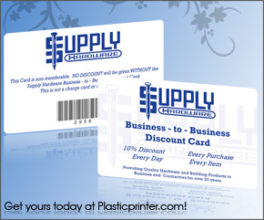 Plastic Discount Card Printing Sample 15