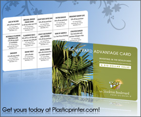 Plastic Discount Card Printing Sample 1