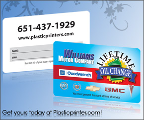 Plastic Discount Card Printing Sample 20