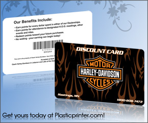 Plastic Discount Card Printing Sample 2